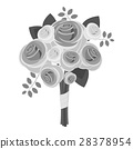 Wedding bouquet icon, gray monochrome style 28378954