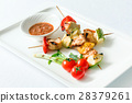 Skewered Chicken with vegetables 28379261