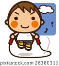นักเรียนประถม,เด็กผู้ชาย,กระโดดเชือก 28380311