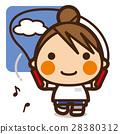 นักเรียนประถม,เด็กผู้หญิง,กระโดดเชือก 28380312