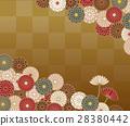 菊花花紋花樣的日本模式 28380442