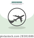 aircraft, airplane, icon 28381686