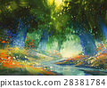 mystic forest with a fantasy atmosphere 28381784