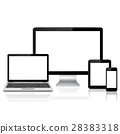 Modern digital devices with blank screen template 28383318