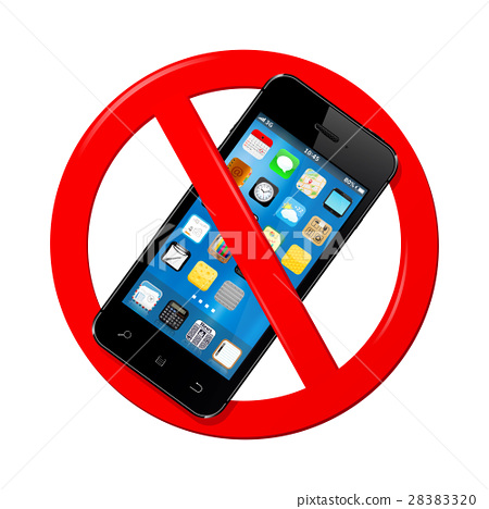 Do not use mobile phone sign 28383320