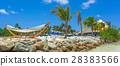 Flamingo beach at Aruba island 28383566