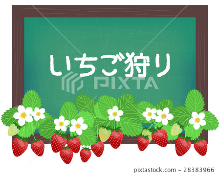 草莓 矢量 摘草莓 28383966