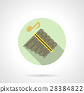 Music lessons. Panpipes flat round vector icon 28384822