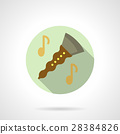 Music lessons. Clarinet flat round vector icon 28384826