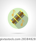 Music lessons. Reed pipes flat round vector icon 28384828