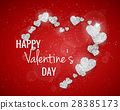 Vector Happy Valentine's Day greeting card 28385173