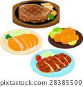 소, 돼지, 닭의 고기 요리 28385599