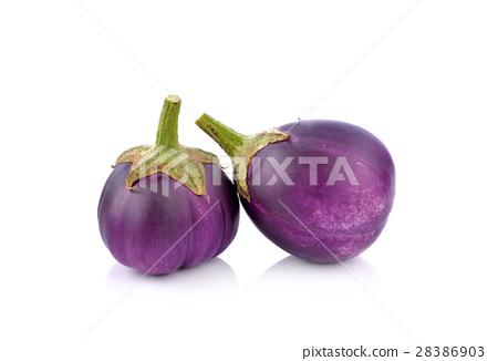 eggplant  on  white background 28386903