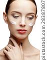Beautiful Woman with Clean Fresh Skin  28387807