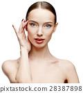 Beautiful Woman with Clean Fresh Skin  28387898