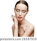 Beautiful Woman with Clean Fresh Skin  28387910
