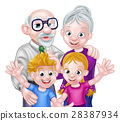 grandparents, kids, cartoon 28387934