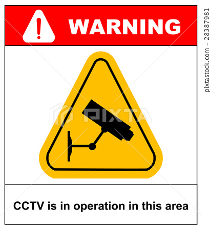 CCTV in Operation sign - Vector format 28387981