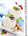 Yogurt with berries. 28388064