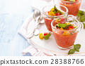 Gazpacho soup in cups. 28388766