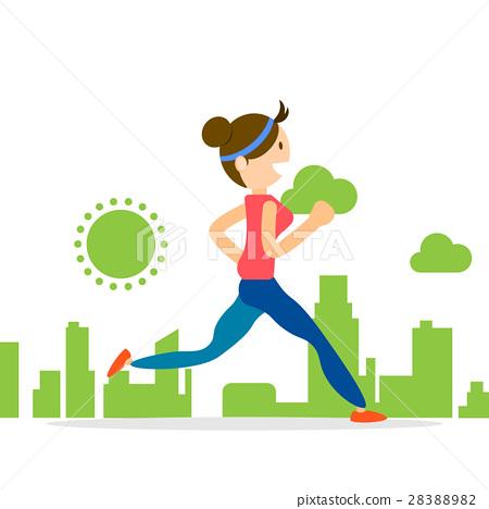 woman running jogging city run marathon sport 28388982