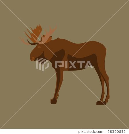 Vector illustration in flat style Elk 28390852