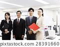 打ち合わせ ミーティング 女性 男性 チーム ビジネス オフィス ビジネスマン 28391660