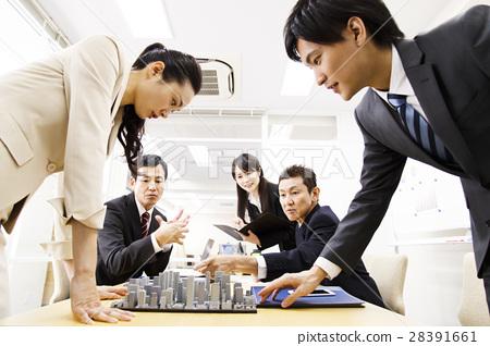 房地產會議演示文稿會議城市發展建築團隊營業所商人 28391661