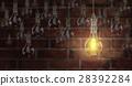 Light bulb lamps. 3D rendering 28392284
