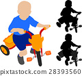 child riding tricycle 28393560