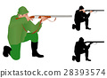 hunter illustration and silhouette 28393574
