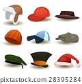 Caps, Top Hats And Other Headwear Set 28395284