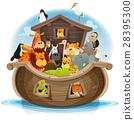 Noah's Ark With Cute Animals 28395300
