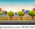 street, city, seamless 28395306