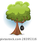 Funny Spring Tree With Swing Tire 28395316