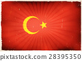 Vintage turkey Flag Poster Background 28395350