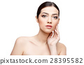 Beautiful Woman with Clean Fresh Skin  28395582