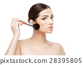 Beautiful Woman with Clean Fresh Skin  28395805