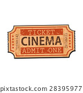 ticket, cinema, vector 28395977