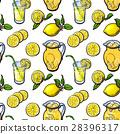 lemon, lemonade, seamless 28396317