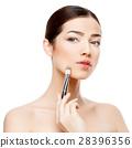 Beautiful Woman with Clean Fresh Skin  28396356
