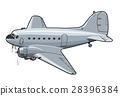 vector, cartoon, airplane 28396384