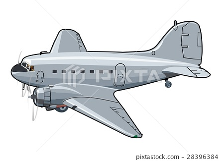 Cartoon Retro Airplane 28396384