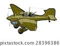 vector, cartoon, airplane 28396386