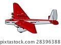 vector, cartoon, airplane 28396388