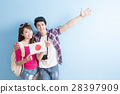 young couple go to travel 28397909