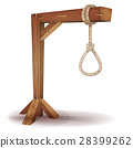 Gallows With Hangman's Rope 28399262