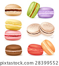 Isolated Macaroon Goods Set 28399552