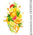 果汁 水滴 多彩 28399558