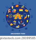amusement park vector 28399585